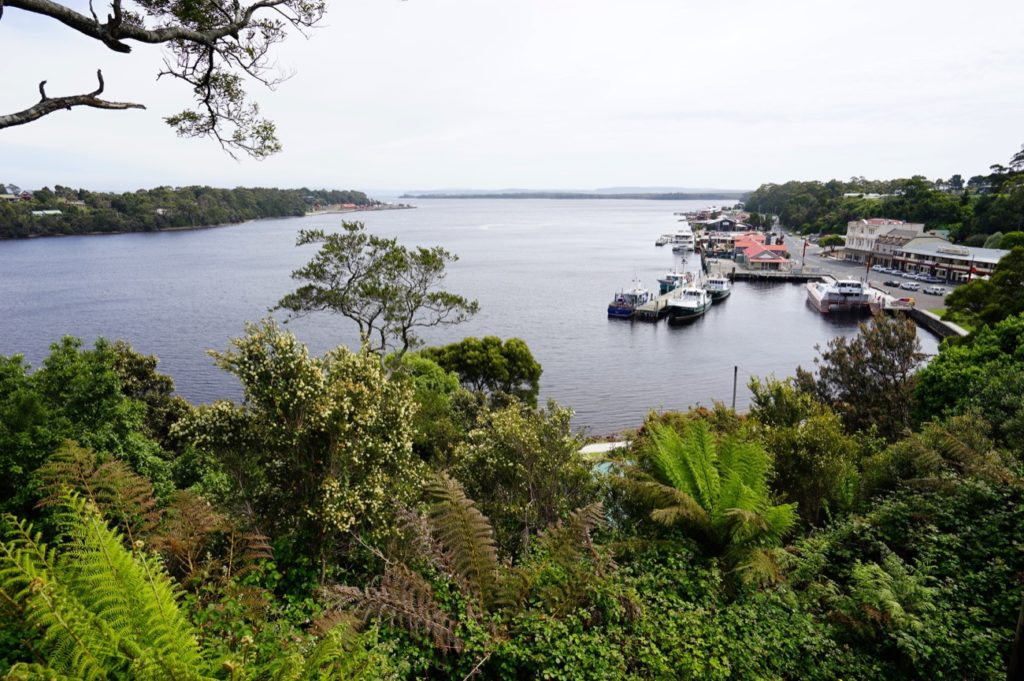 Blick auf Strahan und dessen Bucht