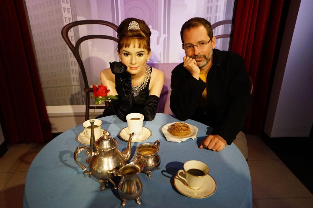 Ob beim Frühstück at Tiffany's mit Audrey ...