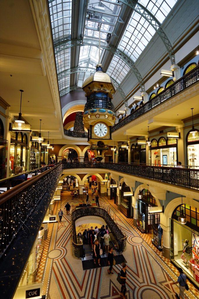 Wunderbar schmuckes Kaufhaus im Queen Victoria Building