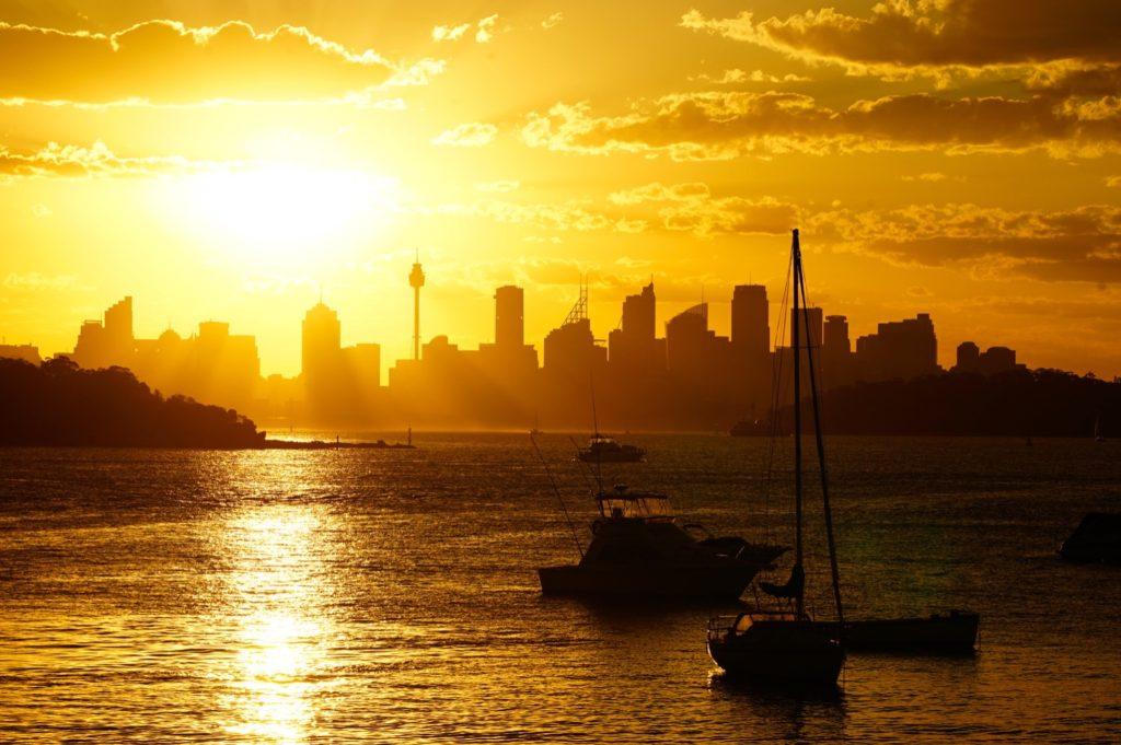 Vom Doyles on the Beach aus kann man einen tollen Sonnenuntergang erleben